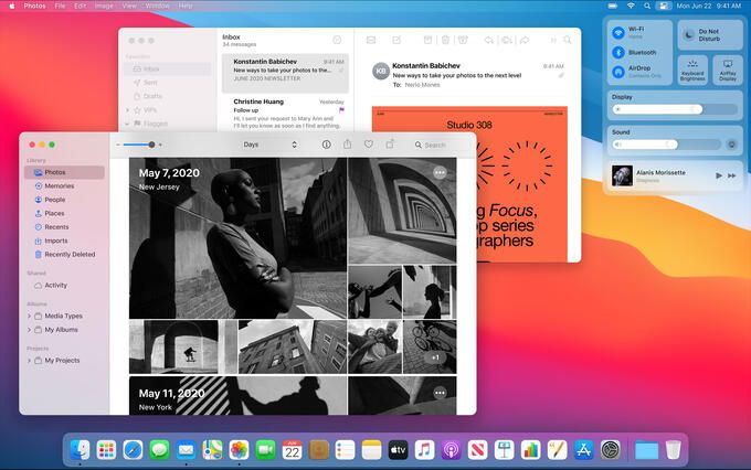 Mac OS 11 Big Sur – a lot of news in Apple's new operating system