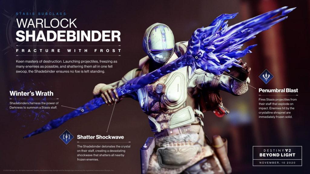 A closer look at Warlock Shadebinder – Destiny 2: Beyond Light