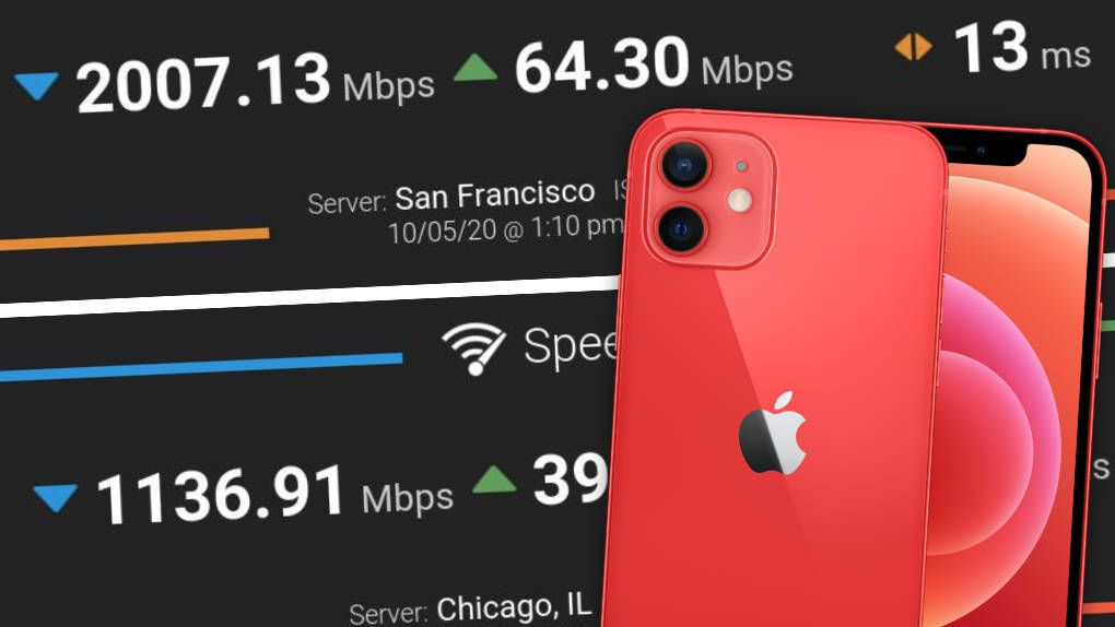 The first speed test of Iphone 12 with 5g here