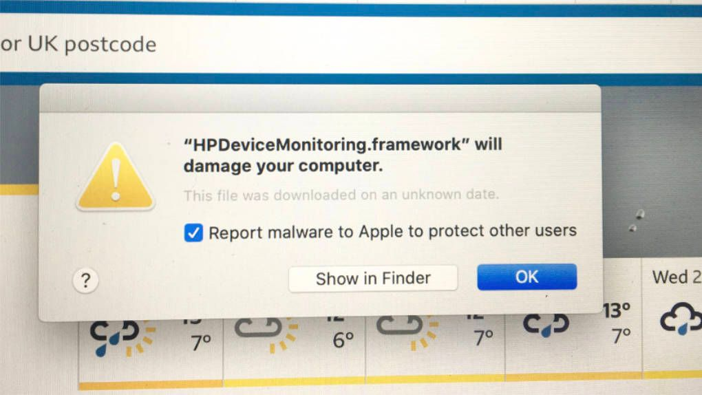 Therefore, HP drivers began to be classified as malware on Mac