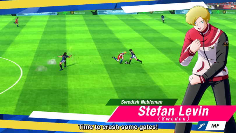 Swedish player in the first DLC for Captain Tsubasa: Rise of New Champions