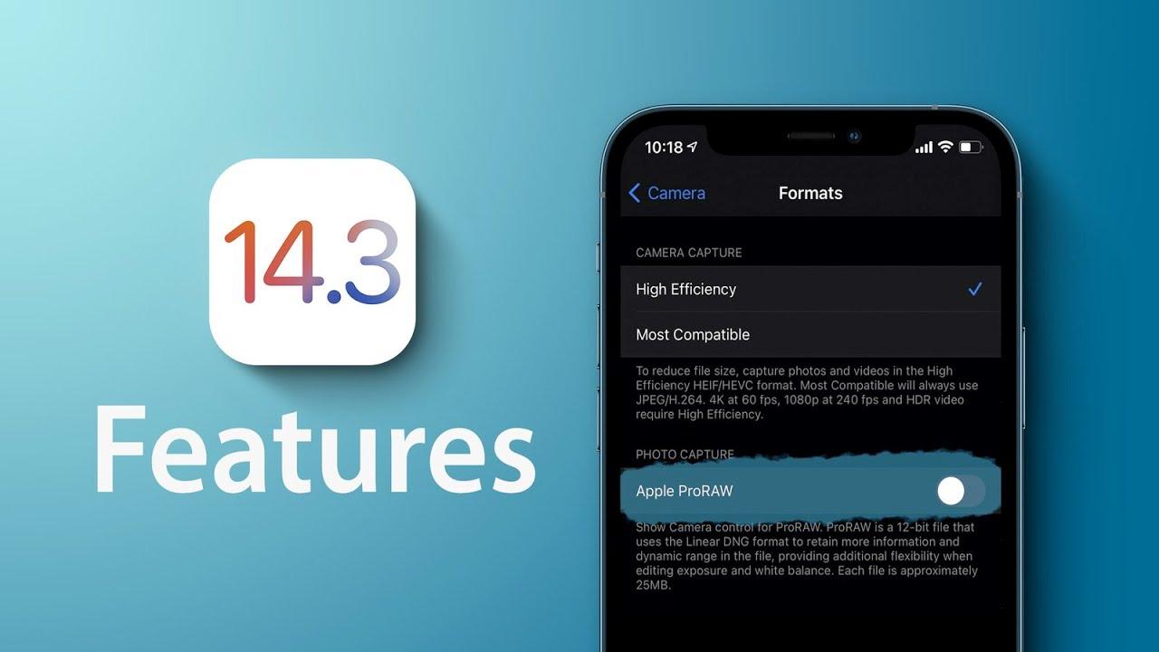 Apple has released iOS / iPadOS 14.3