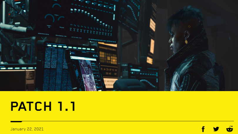 Cyberpunk 2077 patch 1.1 live now – improves stability