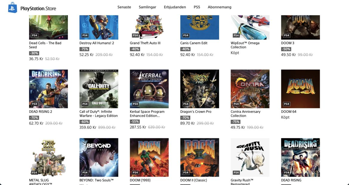 Retro and remaster sale on PSN Store right now