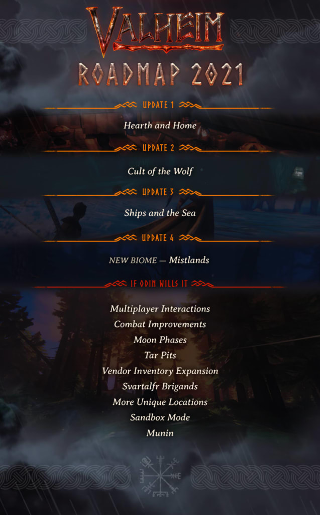 Valheim outlines a road map, promises tar pits and a sandbox location