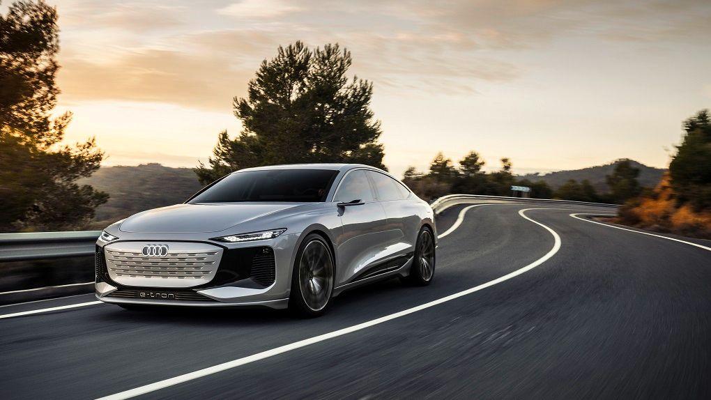 Audi shows off the concept car A6 e-tron