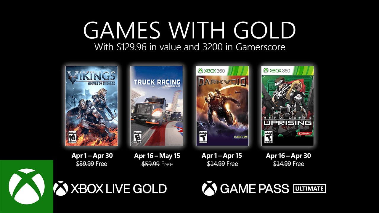 Games with Gold games for April confirmed