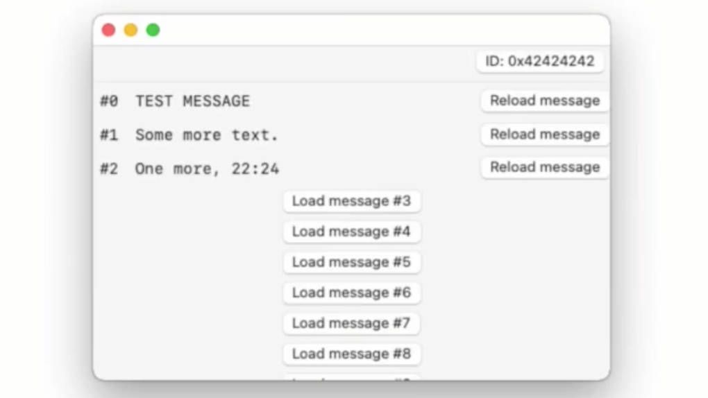 Security researchers send messages via the Find network