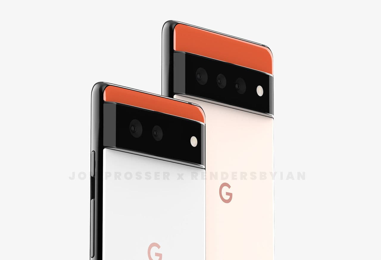 Could this be what the Google Pixel 6 series looks like?
