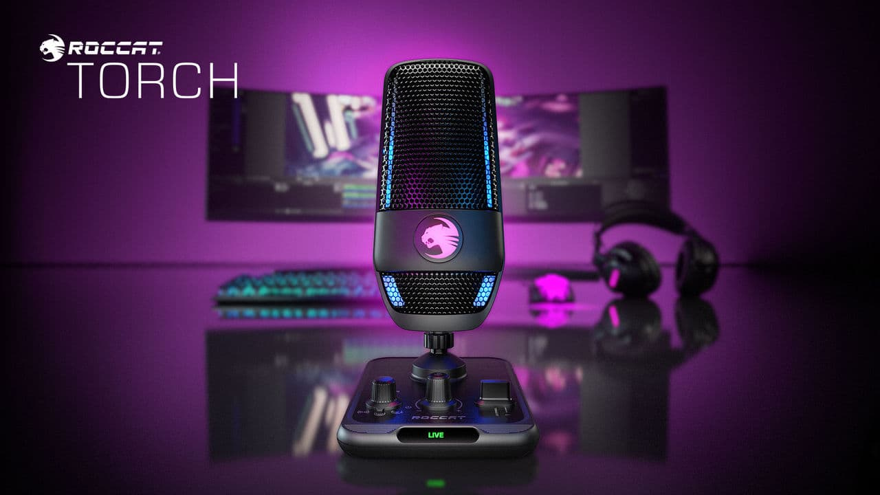Roccat presents its first microphone Torch
