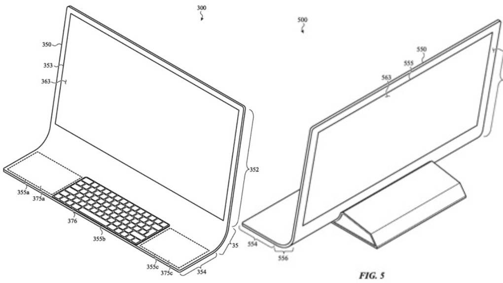 Apple is granted a patent on the curved model by Imac