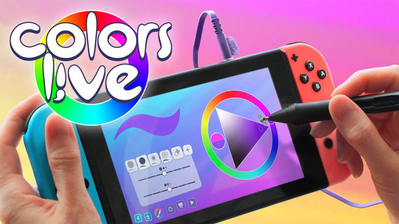 Colors Live – digital canvas with pen – now out for the Nintendo Switch